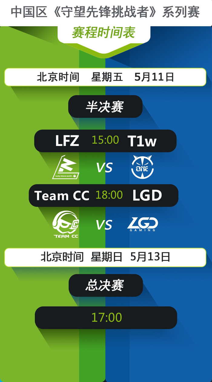 中国区《守望先锋挑战者》季后赛今日下午开打